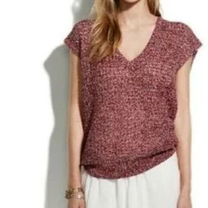 madewell wallace loose weave sweater short sleeves